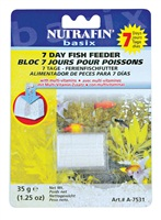 Bloc 7 jours Nutrafin basix pour poissons, 35g (1,25oz)