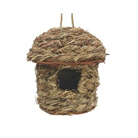 Nid Living World en foin-de-verger pour pinsons, hutte, 14x14x18cm (5,5x5,5x7 po)
