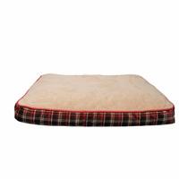 Matelas-lit DreamWell Dogit, rectangle, tartan rouge, 91 x 71 x 12,7cm (36 x 28 x 5po)