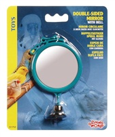 Miroir circulaire Living World à double face avec clochette, grand, 7 cm (2,8 po)