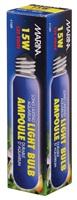 Ampoule incandescente tubulaire Marina, bleue, 15W, paquet de 1