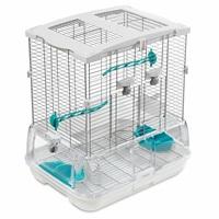 Cage Vision pour oiseaux de petite taille, modèle S01, standard, grillage étroit, 47,5 x 37 x 51 cm (18,7 x 14,6 x 20 po)