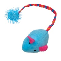 Souris en peluche Furry Frolics Cat Love avec herbe à chat, bleue