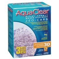 Masses filtrantes Zeo-Carb pour filtre AquaClear 30/150, 195 g (6,9 oz), paquet de 3