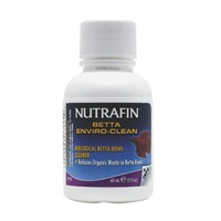 Nettoyant biologique Betta Enviro-Clean Nutrafin pour bocal à betta, 60ml (2ozliq.)