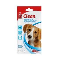 Lingettes Dogit Clean pour pelage, 5 x 20cm (6 x 8po), paquet de 40