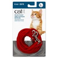 Câble d'attache en nylon Catit, rouge, 6m (20pi)