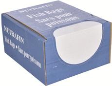 Sacs Nutrafin pour poissons, petits, 16,5 x 43,2 cm (6,5 x 17 po), boîte de 500