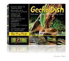 Bol à eau et à nourriture Exo Terra pour geckos, 9 x 4 x 12,5 cm (3,5 x 1,5 x 4,9 po)
