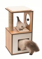 Meuble Box Catit Vesper, noyer, petit, 37 x 37 x 72,5 cm