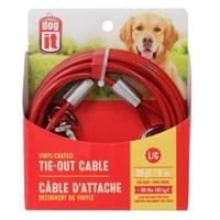 Câble d'attache Dogit pour chiens de grande taille, rouge, 6 m (20pi)