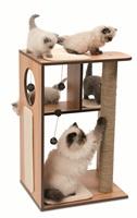 Meuble Box Catit Vesper, noyer, grand, 50 x 40 x 78 cm