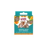 Bloc minéral Living World pour petits animaux, arôme d'orange, petit, 40 g (1,4 oz)