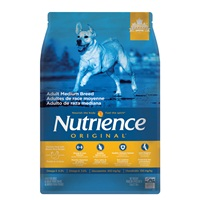 Aliment Nutrience Original, Adultes de race moyenne, Poulet et riz brun, 5 kg (11 lb)