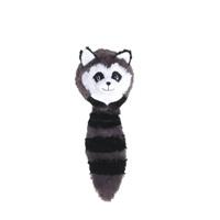 Jouet Stuffies Dogit pour chiens, boule en peluche animal de la forêt, raton-laveur, 32cm (12,5po)