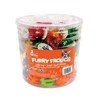 Balles en plastique et pompons Furry Frolics Cat Love, 72 jouets