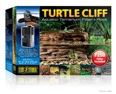 Falaise Exo Terra pour tortues, avec filtre submersible pour aquaterrariums et roche, petite
