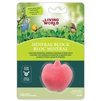 Bloc minéral Living World en forme de pomme pour oiseaux, 31g (1,1oz)