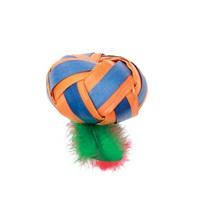 Jouet naturel Terra Toys Cat Love avec herbe à chat, balle aplatie avec plumes