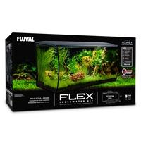 Aquarium équipé FLEX Fluval, noir, 123L (32,5gal US)
