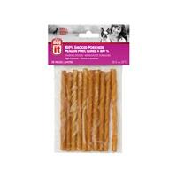 Bâtonnets torsadés Dogit en peau de porc fumée, 12,5cm (5po), paquet de 10