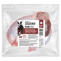 Aliment Nutrience SubZero Cru pour petits chiens, jarrets de bœuf, 454 g (1 lb), paquet de 10