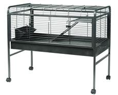 Cage prête-à-monter Living World pour lapin, gris argenté antique, grande, L. 120 x l. 60,3 x H. 95,8 cm (47,2 x 23,7 x 37,7 po)