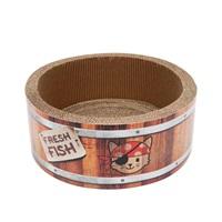 Griffoir Pirates Catit Play en forme de baril, avec herbe à chat, grand, 42cm (16,5po)