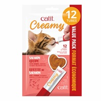 Régals crémeux Catit Creamy, Saumon, paquet de 12