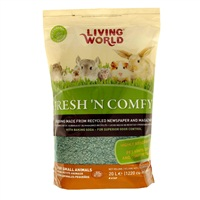 Litière Fresh 'N Comfy Living World, verte, 20 L (1 220 po cubes)