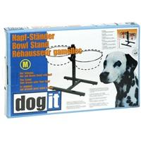 Support réglable Dogit pour bols, moyen, convient à 2 bols de 1,5L (50ozliq.)