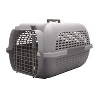 Cage Voyageur Dogit pour chiens, base anthracite avec dessus gris pâle, moyenne, L.56,5xl.37,6xH.30,8cm (22x14,8x12po)