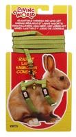 Ensemble laisse et harnais réglable Living World pour lapin, vert, laisse de 1,2m (4 pi)