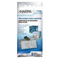 Cartouche de rechange pour filtre T100 Marina, pour aquariums de 3,7L (1galUS)