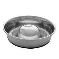 Bol anti-glouton antidérapant Dogit en acier inoxydable pour chiens, 1,7 L (57,5ozliq.)