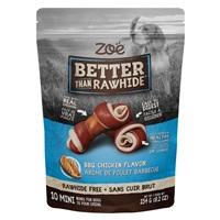 Os Better than Rawhide Zoë, mini, poulet barbecue, 234g (8,2oz), paquet de10