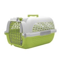 Cage Voyageur Dogit pour chiens, blanc et vert, moyenne, L.56,5xl.37,6xH.30,8cm (22x14,8x12po)