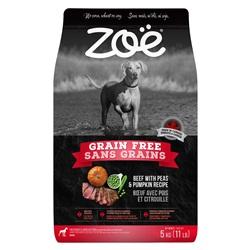 Aliment Zoë Sans grains pour chiens, Bœuf avec pois et citrouille