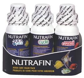 Assortiment de produits Aqua Plus, Cycle et Waste Control Nutrafin, ensemble de 3