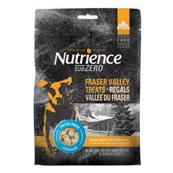 Régals séchés à froid Subzero Nutrience Sans grains Vallée du Fraser, Poulet, foie de poulet et foie de canard, 70 g (2,5 oz)