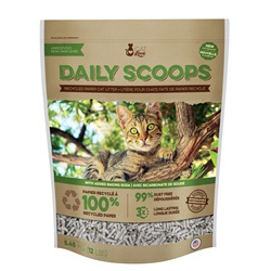 Litière pour chats Daily Scoops Cat Love faite de papier recyclé
