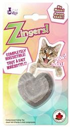Jouet Zingers! Cat Love fait d'herbe à chat, cœur, 8,5 g
