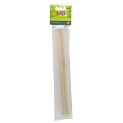Perchoirs Living World en bois, 30 cm (12 po), paquet de 2
