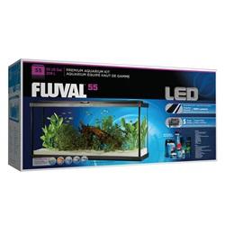 Aquarium équipé haut de gamme 55 Fluval avec éclairage à DEL, 208 L (55 gal US)