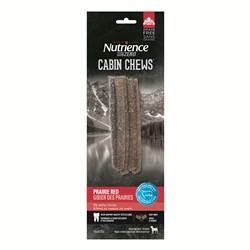 Bâtons de ramure Cabin Chews Nutrience Subzero, Gibier des Prairies, 110 g (3,9 oz), paquet de 5