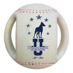 Balle de baseball Varsity Zeus pour chiens, 11,4 cm