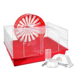 "Habitat interactif Hamsterval Living World pour hamster, 50 x 35 x 36 cm (19,7"" x 13,8"" x 14,2"")"