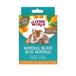 Bloc minéral Living World pour petits animaux, arôme d'orange