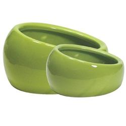 Bol ergonomique Living World en céramique, vert