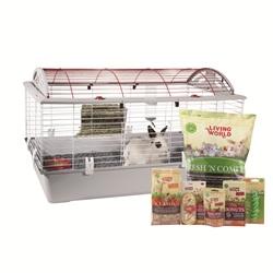Cage équipée de luxe Living World pour lapin